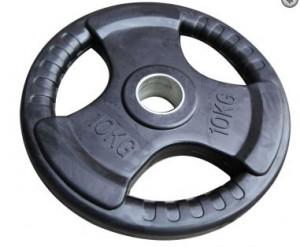 10 kg olimpijska gumirana utež 51mm www.sportnaoprema.si