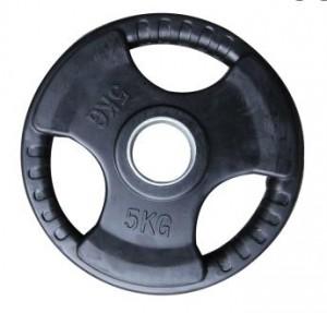 5kg olimpijska gumirana utež 51mm www.sportnaoprema.si