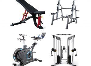 Fitnes naprave, klopi, nosilci, gredi