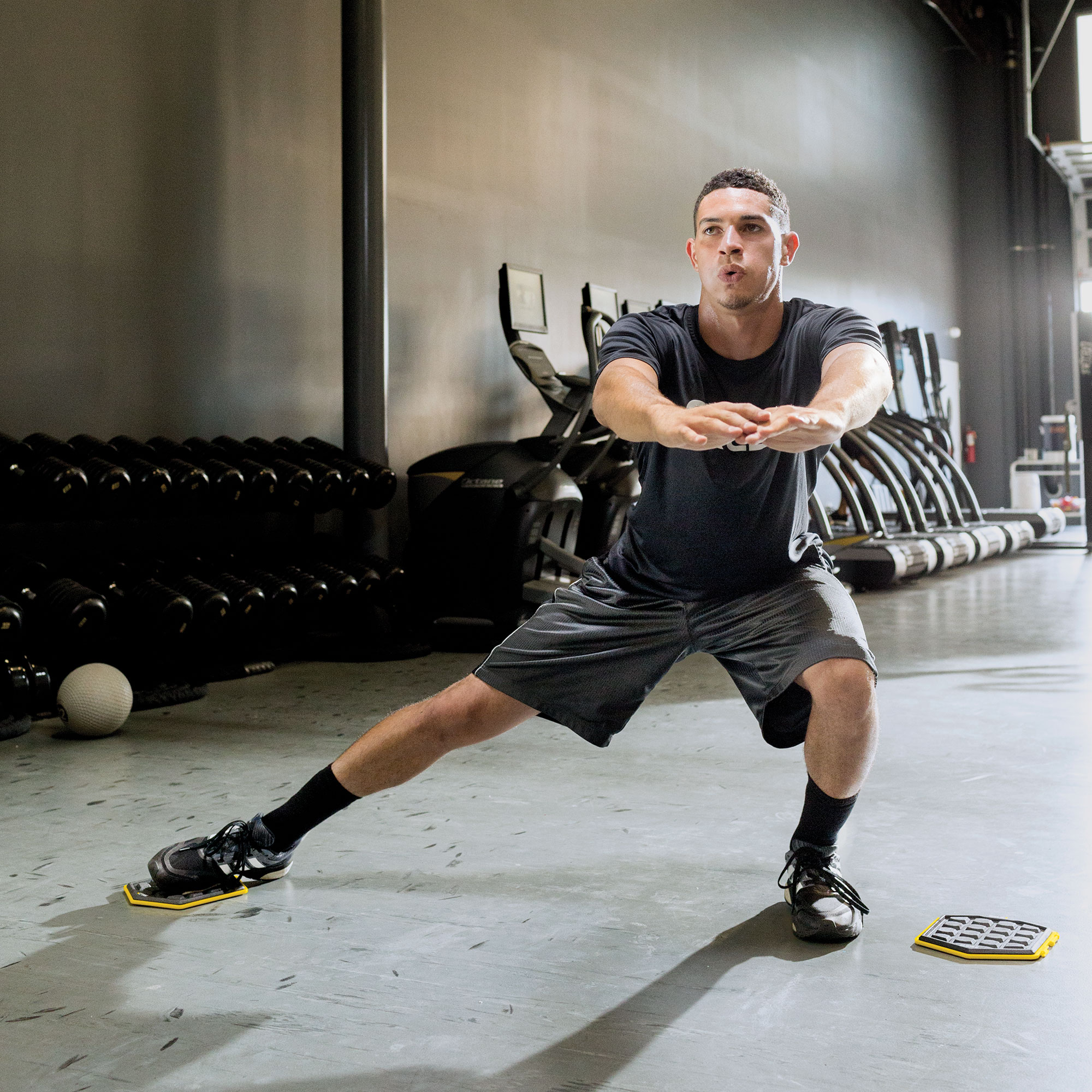 STRONG TO THE CORE Built to work both upper and lower body, Slidez engages core muscles through a nearly endless range of motion and training drills. Designed for use with both hands and feet, and to add new muscle, stamina and flexibility.